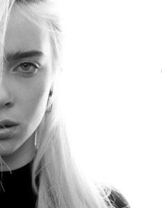 Черно белые фото Билли Айлиш